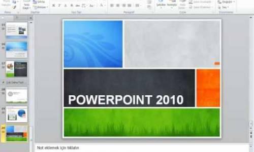 MİCROSOFT POWERPOİNT 2010 GÖRSEL VİDEO EĞİTİMİ-Powerpoint 2010