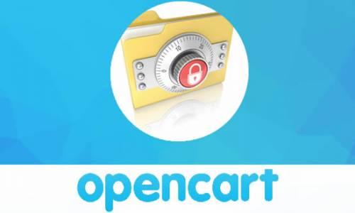 Opencart güvenlik